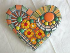That Seventies Heart Hippie Boho Citrus by DumbLadyMosaics on Etsy