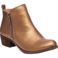 Women's Lucky Brand Basel Bootie, Size: 8 W, Old Bronze Leather