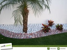 Terraza on pinterest kindergarten tables pallet sofa - Jardines con piedras blancas ...