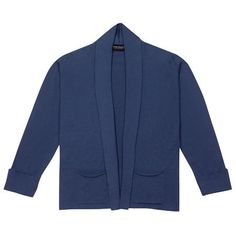 Jada in Vintage Denim, the knitted jacket, perfect for a formal occasion