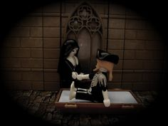 Nur in der Nacht von Halloween ist es dem Geist von Schwester Amalia erlaubt den Geist ihrer großen Liebe zu zu sehen, der einst auf See starb, woraufhin sie ins Kloster ging... Playmobil Halloween, Dream Pictures, Love, Playmobil, Night, Spooky Halloween
