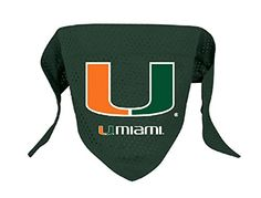 NCAA Miami Hurricanes Pet Bandana Team Color Large >>> See this great product.Note:It is affiliate link to Amazon. #DogsHarness