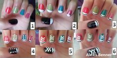 converse nails step by step