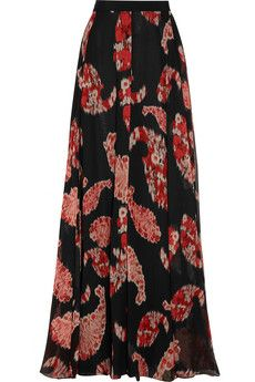 Giambattista Valli Printed silk-georgette maxi skirt | THE OUTNET