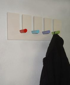 colourful peg hanging rack, how to, organizing, wall decor, woodworking projects