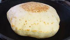 Atât de moale și aerată, încât nu-i poți rezista! Pâine turcească la tigaie - Floare de tei Kefir, Hamburger, Dairy, Bread, Cheese, Cooking, Food, Facebook, Kitchen