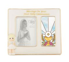 Precious Moment Blessing On Your First Holy Communion Frame GIRL # 844030 in Box