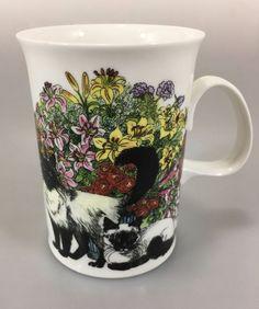 Dunoon Sue Scullard Sophisticats Cats Fine Porcelain Mug Cup 8 oz Coffee Tea #Dunoon