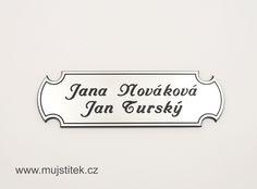 Plastová jmenovka na poštovní schránku. www.mujstitek.cz