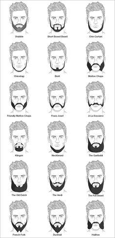 Diferentes estilos de la barba para los hombres