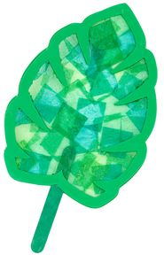 Palm Branches, craft idea. Cut out stencils and then fill in with tissue paper squares.