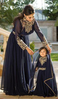 and baby hijab, – Hijab Fashion 2020 Mom Daughter Matching Dresses, Baby Hijab, Vestido Charro, Formal Casual, Mother Daughter Fashion, Mother Daughters, Legging Outfits, Mode Hijab, Kurt Geiger