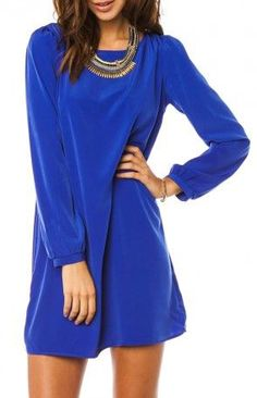 Middleway Shift Dress in Royal