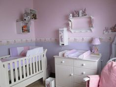 Fairy Nursery Decor Walls Painted Pink And Lilac So Enchanting Paint Line Recommended