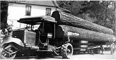 Really Old School Chain Driven Diesel Big RIG. We can't forget where we came from & the REAL MEN that got the job done the hard way.