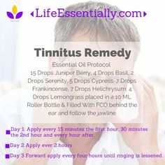 #Tinnitus is a ringing in the ears that can be very painful to live with. Here is a natural essential oil protocol to help with this issue.: