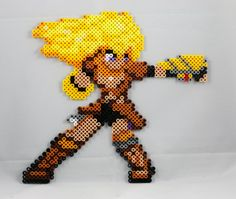 Yang Xiao Long Perler - Punch!! by Kuchenjaeger.deviantart.com on @DeviantArt