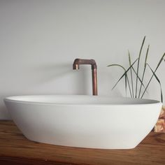Merwe Wadi Vessel Basin is perfect for small powder rooms