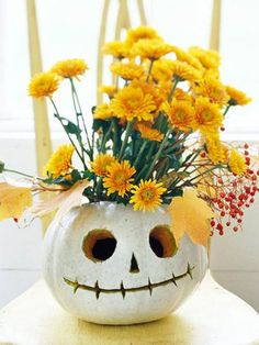 Skeleton Pumpkin #conklynsflowers