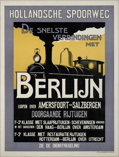 """Free image of """"Train Travel Vintage Poster"""" by Karen Arnold Train Posters, Railway Posters, Vintage Travel Posters, Vintage Ads, Underground Lines, Tourism Poster, Art Deco Posters, Vintage Graphic Design, Old Signs"""