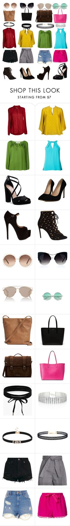 """""""#outfits"""" by fandomfreak1204 ❤ liked on Polyvore featuring Velvet by Graham & Spencer, Alexander McQueen, Dorothee Schumacher, Trina Turk, Nina, Bionda Castana, Chloé, Christian Dior, BAGGU and Lacoste"""