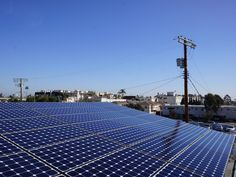 Commercial solar installation using Sunpower solar modules in Southern California.