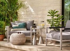 51 Outdoor Side Tables That Will Add Convenience To Your Outdoor Experience Luxury Furniture Brands, Furniture Sale, Outdoor Furniture Sets, Furniture Design, Modern Outdoor Side Tables, Outdoor Lounge, Outdoor Decor, Outdoor Spaces, Side Tables For Sale