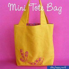 Mini Tote - Free Sew