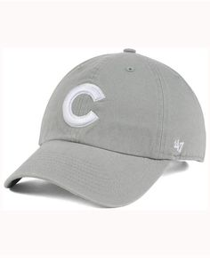 b2c4d0724a7fe  47 Brand Chicago Cubs Gray White CLEAN UP Cap   Reviews - Sports Fan Shop  By Lids - Men - Macy s