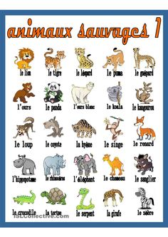 ON Y VA!: LES ANIMAUX French Expressions, French Language Lessons, French Language Learning, French Lessons, Foreign Language, French Flashcards, French Worksheets, French Teaching Resources, Teaching French