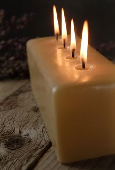 Cathedral Candles Unscented 4 Wicks  $18 each/ 3 for $17 each