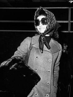 Jackie O., 1971: Glam accessories take it way uptown.