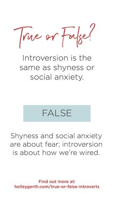 How much do you really know about introverts? 7 true/false statements. #introvert #extrovert Social Anxiety, Do You Really, Introvert, Writers, Social Media, Coffee, Sayings, Reading, Words