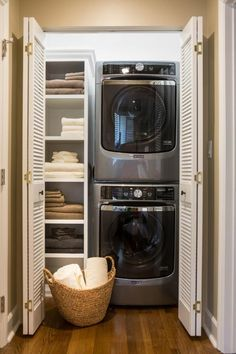 36 Facts about Small Laundry Room Storage Ideas Shelves Washer and Dryer apik Storage Room, Installing Cabinets, Laundry Room Diy, Linen Closet, Washer Dryer Laundry Room, Utility Rooms, Room Closet, Room Storage Diy, Basement Laundry