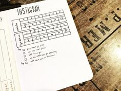 """""""A closer look of my instagram tracker 😊. In the boxes I will write the number of followers at the…"""""""