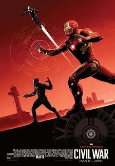 Três posters de Capitão América: Guerra Civil só para aqueles que forem assitir nos cinemas IMAX ~ Universo Marvel 616