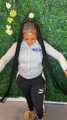Hair Ponytail Styles, Big Box Braids Hairstyles, Lemonade Braids Hairstyles, Braids Hairstyles Pictures, Cute Braided Hairstyles, Black Girl Braids, Braided Hairstyles For Black Women, African Braids Hairstyles, Baddie Hairstyles