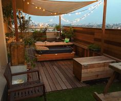 Industrial Home Design, Industrial House, Outdoor Dining, Outdoor Spaces, Outdoor Decor, Cafe Design, House Design, Awning Shade, Apartment Balconies