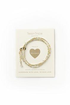 """Balance"" Little Lovelies Triple Wrap Bracelet (as Necklace)"