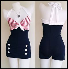 1950's Vintage Style Swing/Pinup/Rockabilly Swimsuit < Click link for Amazon's current low price!