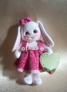 rabbit bunny Christmas ornament polymer clay gift animal personalized via Etsy