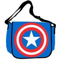 Captain America Shield Messenger Bag  http://www.retroplanet.com/PROD/33462
