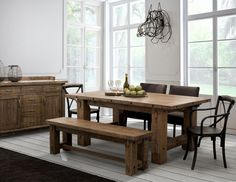 Country Maple Wood Dining Room Set Several Options Available Made In Canada