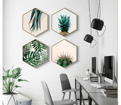Do it yourself kitchen wall decor - kitchen art, paintings, wall plaques Office Wall Decor, Office Walls, Wall Art Decor, Cheap Home Decor, Diy Home Decor, Cheap Wall Decor, Decor Inspiration, Decor Ideas, Cactus Wall Art