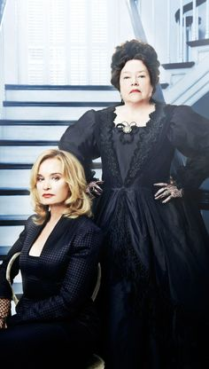 Jessica Lange and Kathy Bates in 'American Horror Story: Coven' (2013). Costume Designer: Lou Eyrich.