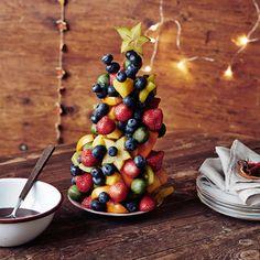 Julgran i all ära – så här gör du en fruktgran du kan äta upp! Perfekt som julig efterrätt eller nyttigt snacks till julfesten.