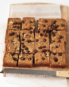 Blondies with Chocolate Chips and Walnuts - Martha Stewart Recipes