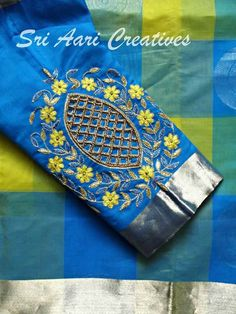 Pattu Saree Blouse Designs, Blouse Designs Silk, Designer Blouse Patterns, Bridal Blouse Designs, Kurta Designs, Simple Blouse Designs, Stylish Blouse Design, Embroidery Suits, Hand Embroidery Designs
