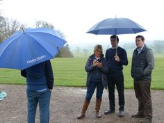 Umbrellas were certainly vital for this years shoot!