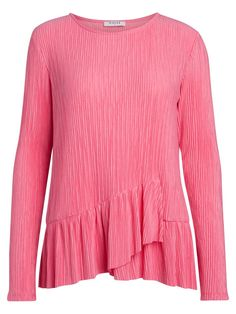 Camiseta Plisada Rosa. Marca Pieces. Prenda original, femenina y llamativa gracias a su plisado. D Company, Color Negra, Outfit, Sweaters, Fashion, Pink, Love At First Sight, Thanks, T Shirts
